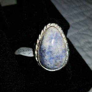 Jewelry - Navy Sodalite Sterling Silver Ring Size 6